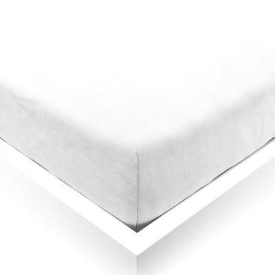Drap housse en lin blanc Pure White (70 x 140 cm)  par ooh noo