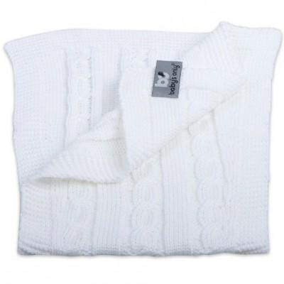 Bavoir protection d'épaules Cable Uni blanc Baby's Only