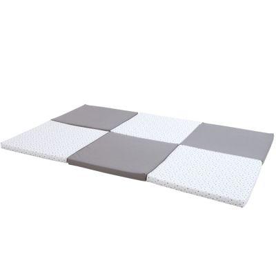 Tapis de jeu pliable XL multifonctions gris étoile  par Candide