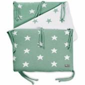 Tour de lit Star vert menthe et blanc (pour lit 60 x 120 cm) - Baby's Only