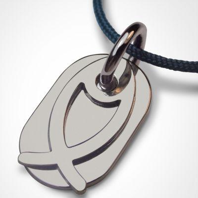 Collier cordon 'Ichthys' (or blanc 750°)  par Mikado