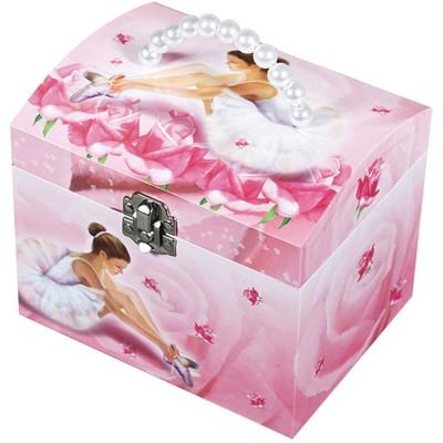 Boîte à bijoux musicale phosphorescente Ballerine rose  par Trousselier