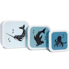 Lot de 3 boîtes à goûter Animaux marins