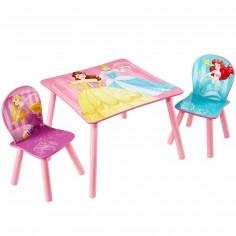 Ensemble table et 2 chaises Disney Princesses