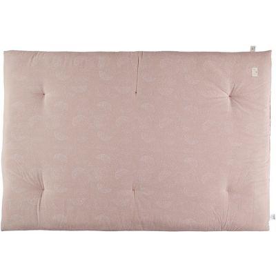 Matelas de sol futon Eden White Bubble Misty Pink  par Nobodinoz