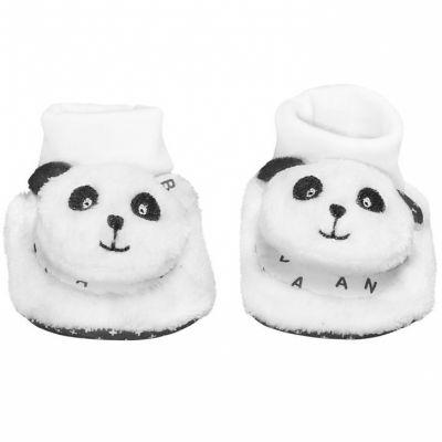 Chaussons en tissu panda Chao Chao (0-6 mois)  par Sauthon