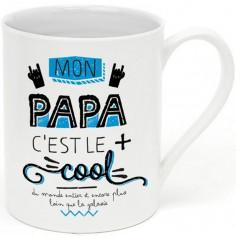 Mug Mon papa c'est le plus cool