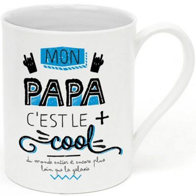 Mug Mon papa c'est le plus cool  par Créa Bisontine