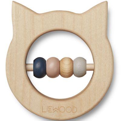 Anneau de dentition en bois Ivalu chat  par Liewood