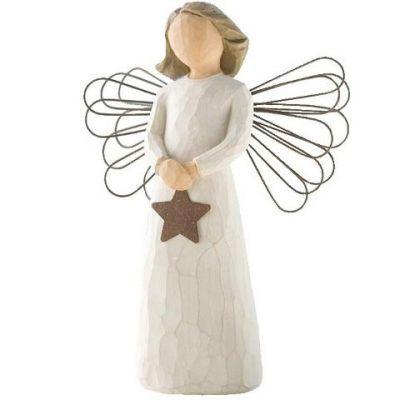 Statuette 'Ange de lumière' (résine)  par Willow Tree