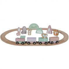 Circuit train en bois Adventure pink