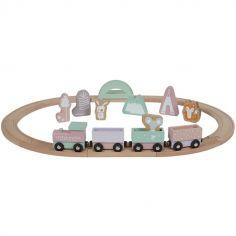 Circuit train en bois Adventure pink