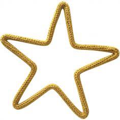 Déco murale mini étoile en tricotin (personnalisable)