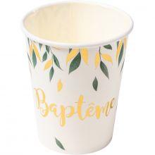 Lot de 8 gobelets en carton Baptême de rêve  par Arty Fêtes Factory