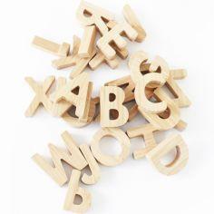 Alphabet en bambou