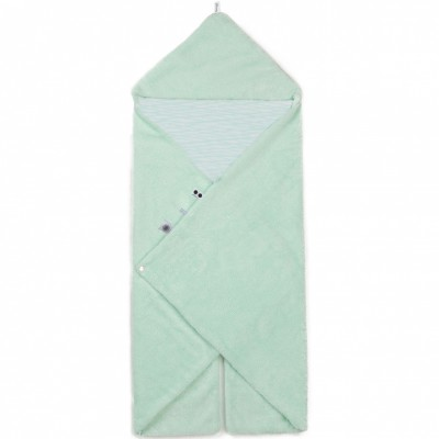 Couverture nomade Trendy Wrapping Misty Green (80 x 80 cm)  par Snoozebaby