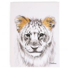 Affiche peinture lion or (30 x 40 cm)