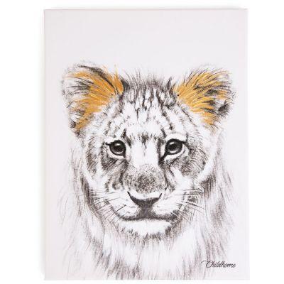 Affiche peinture lion or (30 x 40 cm)  par Childhome