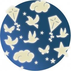 Stickers phosphorescents Dans le ciel