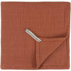 Lot de 3 langes en mousseline de coton Bliss Rust (55 x 55 cm)