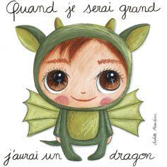 Tableau Dragon (30 x 30 cm)