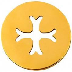 Médaille Mini Croix Byzantine 10 mm (or jaune 750°)