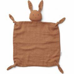 Doudou plat Agnete Rabbit sienna