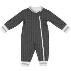 Pyjama chaud Cottage gris foncé (0-3 mois)