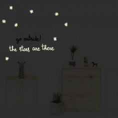 Stickers muraux phosphorescents Stars