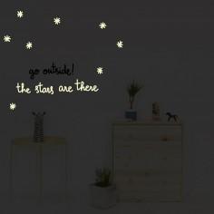 Stickers muraux phosphorescents Stars