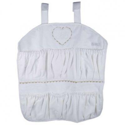 Vide-poches à suspendre Emma blanc  par Nougatine