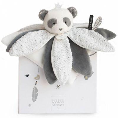 Coffret doudou pétales Panda Attrape-rêves  par Doudou et Compagnie