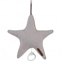 Doudou musical à suspendre étoile Mauve waves (27 cm)