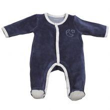 Pyjama chaud Merlin bleu marine (3 mois)  par Sauthon
