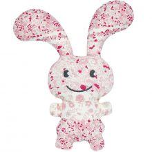 Peluche lapin Funny Bunny Fleurs roses (24 cm)  par Trousselier