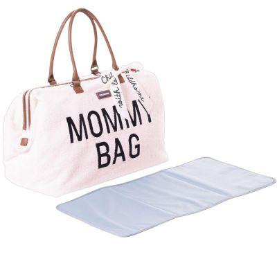 Sac à langer à anses Mommy bag large Teddy écru  par Childhome