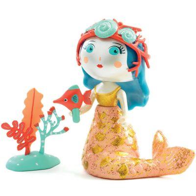 Figurine sirène Aby & et son poisson Blue  par Djeco