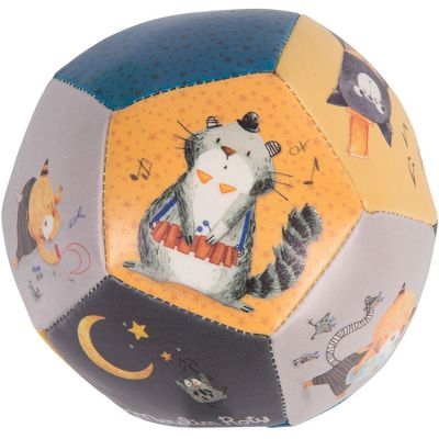 Ballon souple chat Les Moustaches (10 cm) Moulin Roty