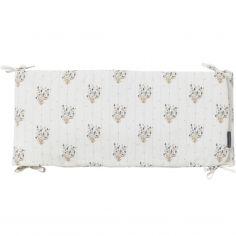 Tour de lit Madeleine fleurie (pour lits 60 x 120 cm ou 70 x 140 cm)
