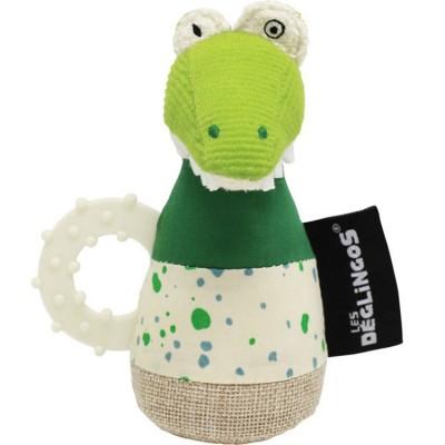 Anneau de dentition hochet Aligatos l'Alligator  par Les Déglingos