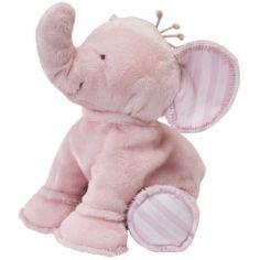 Peluche Ferdinand l'éléphant rose (25 cm)