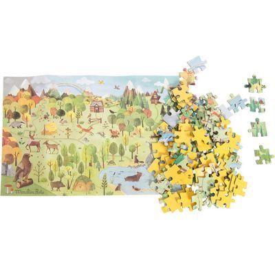Puzzle de l'explorateur La Forêt Le jardin du Moulin (96 pièces)  par Moulin Roty