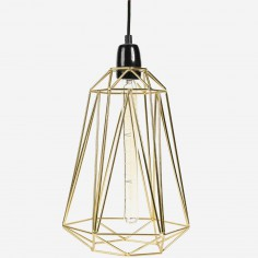 Lampe baladeuse Diamond 5 jaune doré et noir