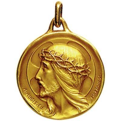 Médaille ronde Ecce Homo 18 mm (or jaune 750°)