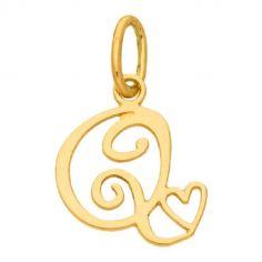 Pendentif initiale Q (or jaune 750°)
