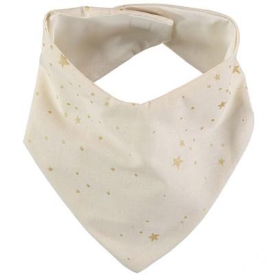 Bavoir bandana Lucky coton bio Gold stella Natural  par Nobodinoz