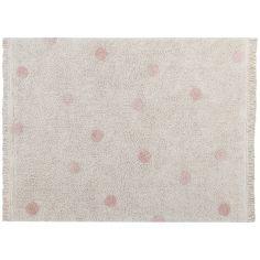 Tapis lavable Hippy Dots natural vintage nude (120 x 160 cm)
