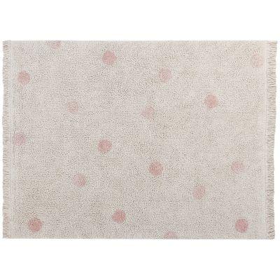 Tapis lavable Hippy Dots natural vintage nude (120 x 160 cm)  par Lorena Canals