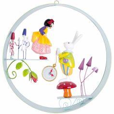 Mobile décoratif en cerceau Alice et le Lapin