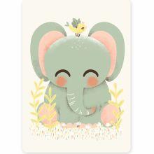 Petite carte les Animignons l'Éléphant (10,5 x 14,8 cm)  par Kanzilue